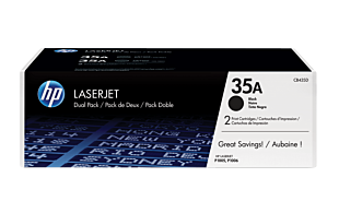 HP 35A 2-pack Black Original LaserJet Toner Cartridges