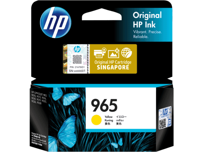 HP 965 Yellow Original Ink Cartridge