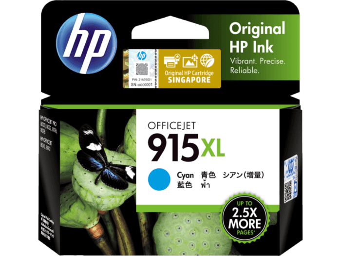 HP 915XL High Yield Cyan Original Ink Cartridge