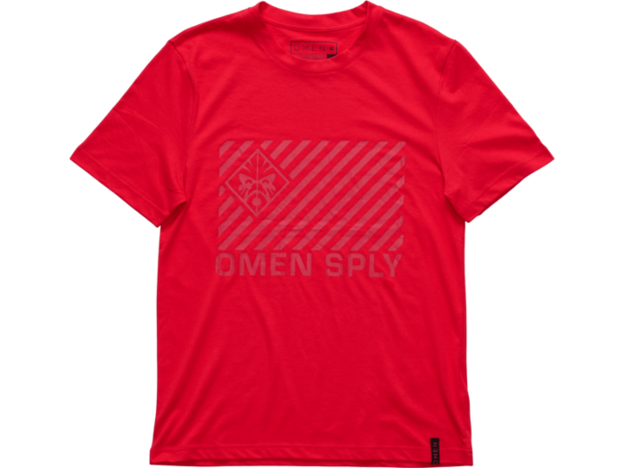 OMEN by HP Courier Men's Red Short Sleeve Tee (Large)