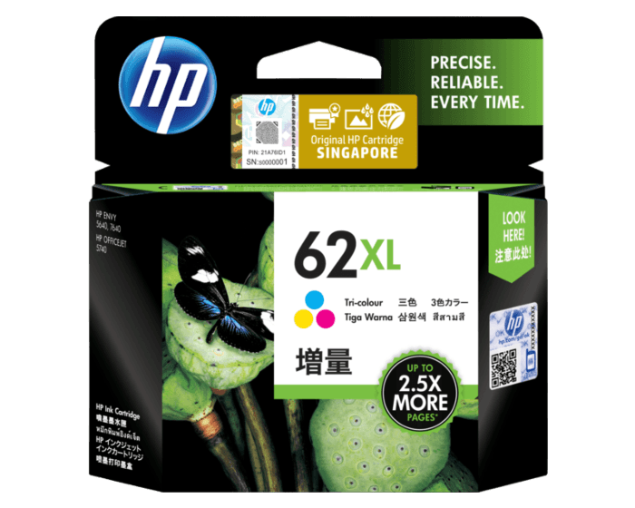 HP 62XL High Yield Tri-color Original Ink Cartridge