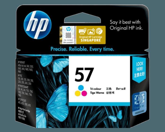 HP 57 Tri-color Original Ink Cartridge