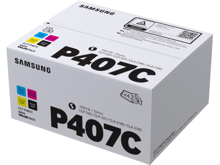 Samsung CLT-P407C 4-pack Black/Cyan/Magenta/Yellow Toner Cartridges