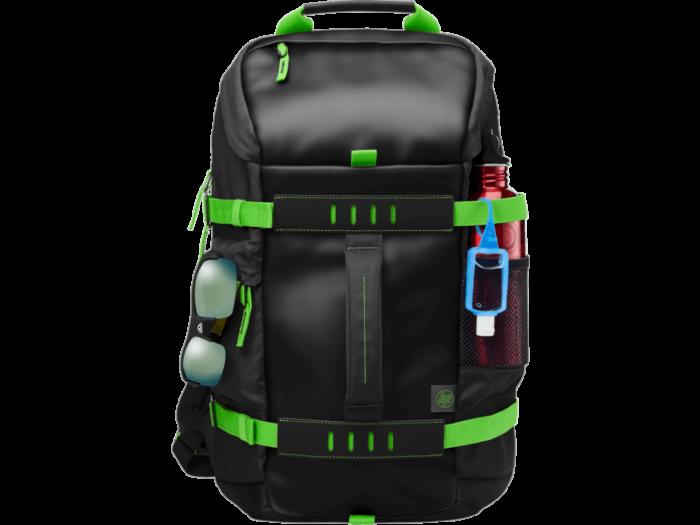 HP 15.6 in Odyssey Backpack Green/Black