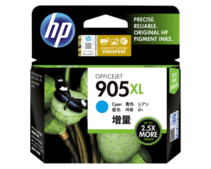HP 905XL High Yield Cyan Original Ink Cartridge