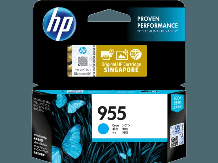 HP 955 Cyan Original Ink Cartridge