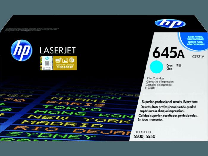 HP 645A Cyan Original LaserJet Toner Cartridge