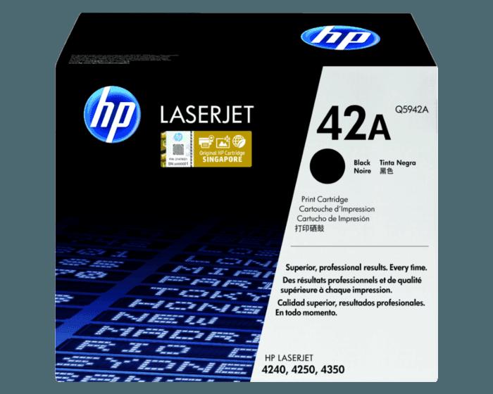 HP 42A Black Original LaserJet Toner Cartridge
