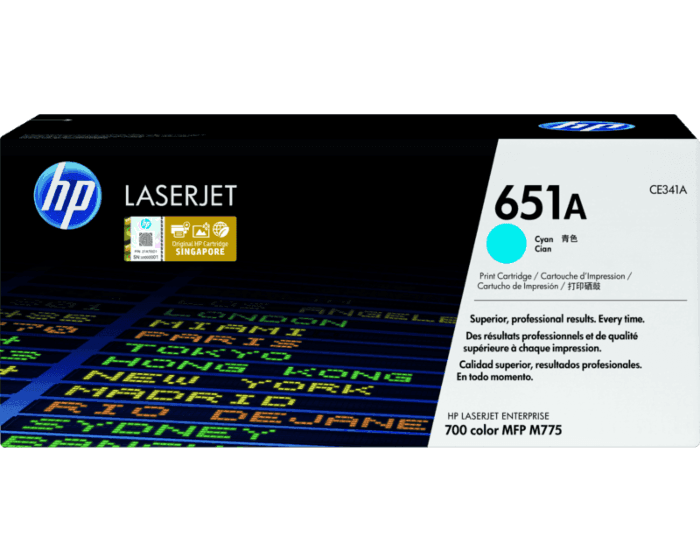 HP 651A Cyan Original LaserJet Toner Cartridge