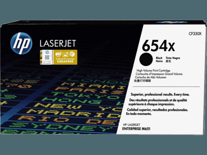 HP 654X High Yield Black Original LaserJet Toner Cartridge