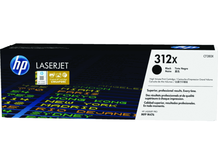 HP 312X High Yield Black Original LaserJet Toner Cartridge