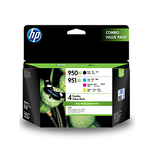HP 950XL Black/951XL Cyan/Magenta/Yellow 4-pack Original Ink Cartridges