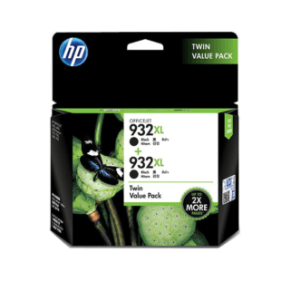HP 932XL 2-pack High Yield Black Original Ink Cartridges