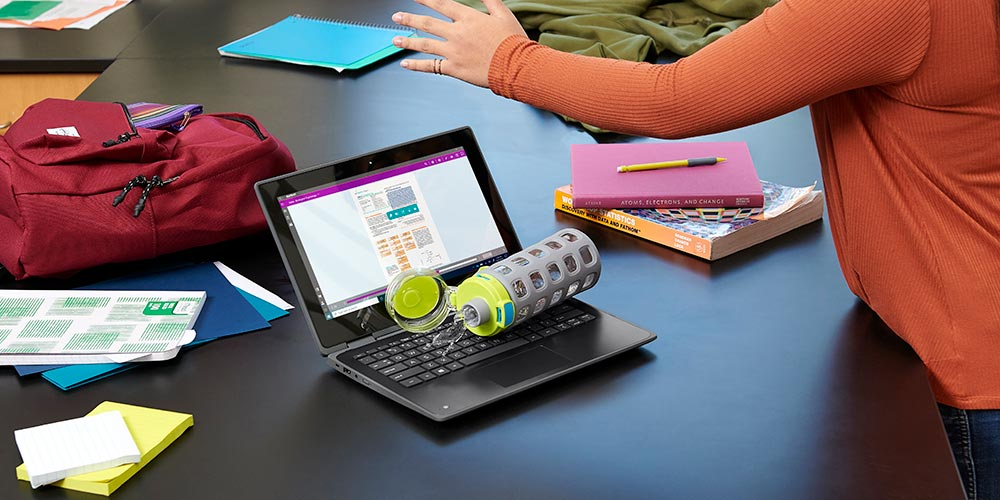 Extended warranty for spillage or accidents on HP business laptops