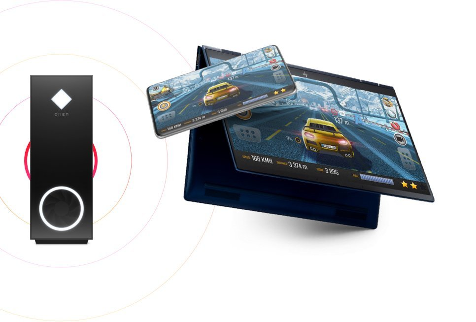 OMEN Gaming Hub remote play allows gamers to stream gameplay from OMEN PC to another PC, Android or iOS device using 5G or Wi-Fi
